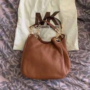 Like NEW Michael Kors Large Fulton Bag in Luggage